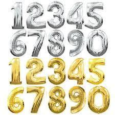 Large Number Foil Balloons