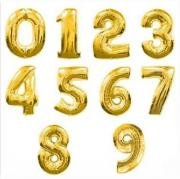 Large Number Balloon - Gold