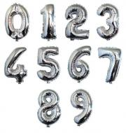 Large Number Balloon - Silver